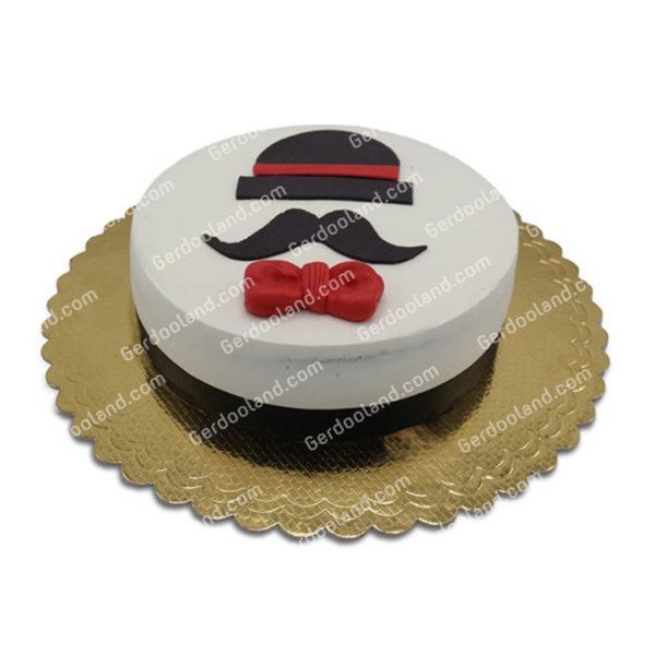 کیک سبیل و کلاه مردانه قنادی گردو کاشان